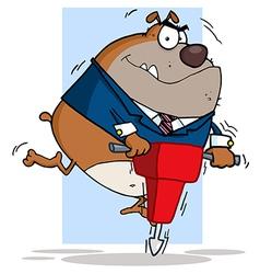 Tan Bulldog Using A Jackhammer vector image