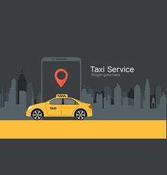 Taxi service cab app design flyer vector