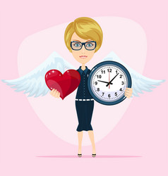 the concept of the time of love the time of date vector image