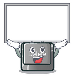 Up board button delete isolated with character vector
