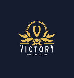 Victorian luxury logo design template inspiration vector