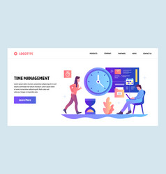 Web site design template time management vector