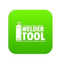 welder tool icon green vector image