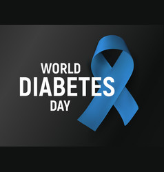 world diabetes day poster blue isolated vector image