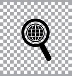 Worldwide searching around the world vector