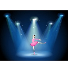 A lady in pink dancing ballet with spotlights vector image vector image