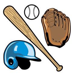 Baseball equipment vector
