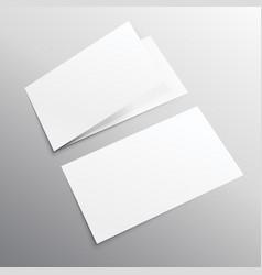 Bifold horizontal empty brochure mockup design vector