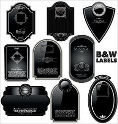black framed labels vector image vector image