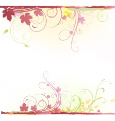 Floral decorative background vector