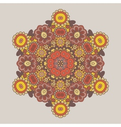 Geometric background Circle floral ornament vector image vector image