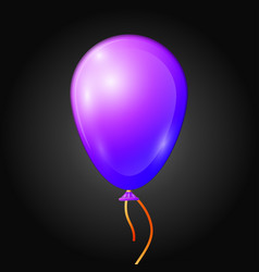 Realistic purple balloon with ribbon isolated vector
