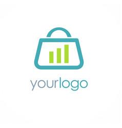 shopping bag business logo vector image
