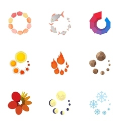 Sign download icons set cartoon style vector image vector image