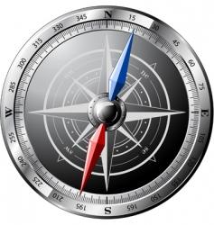 steel compass vector image vector image