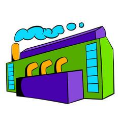 factory building icon icon cartoon vector image vector image