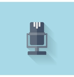 Flat web icon Microphone vector image