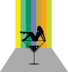 girl in martini color vector image vector image
