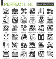 sport fitness equipment black mini concept icons vector image vector image