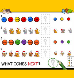 educational pattern game for children vector image vector image