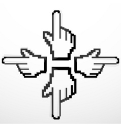 hand cursors vector image vector image