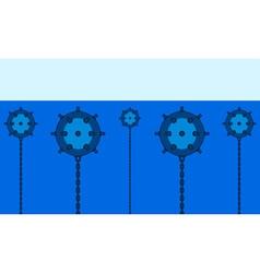 Naval minefield vector image vector image