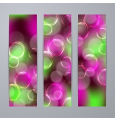 Set of templates for banners vector image vector image