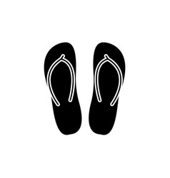 slippers icon black sign on vector image vector image