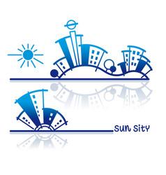 sun sity vector image vector image