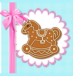 gingerbread horses vector image vector image