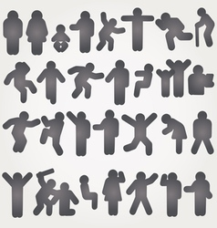 pictograms of men and women vector image vector image