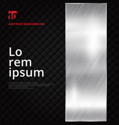 abstract layout silver metallic banner on black vector image