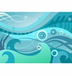 Abstract sea vector