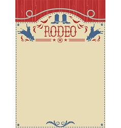 American cowboy rodeo poster for textCowboy riding vector