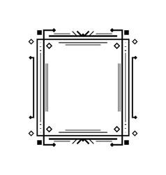 art deco line border vector image