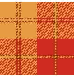 Autumn warm color plaid seamless pattern vector