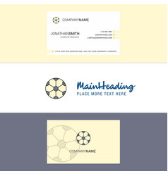 beautiful football logo and business card vector image