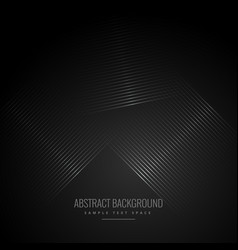 Black background with abstract diagonal lines vector