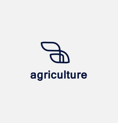 Botanical logo minimalism template 12 vector
