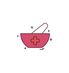bowl food soup icon desige vector image