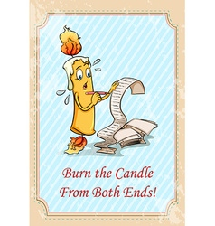 Burn the candle from both ends vector image
