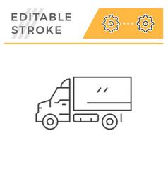 cargo van line icon vector image