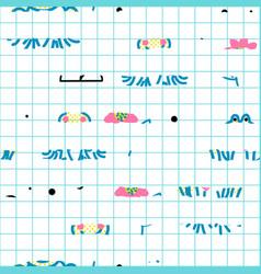 checks and abstract stripes seamless vector image