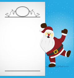 christmas santa claus monogram white background vector image