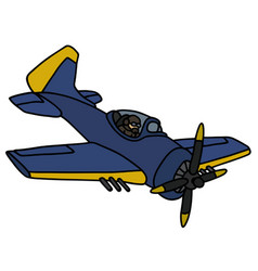 Classic blue navy battle aircraft vector