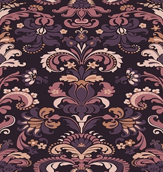 colorful damask seamless floral pattern background vector image