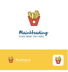 creative fries logo design flat color logo place vector image