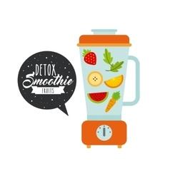 detox smoothie design vector image
