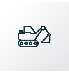 digger outline symbol premium quality isolated vector image