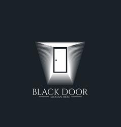 door gate logo for home entrance minimal wood vector image